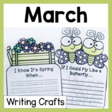 March Craftivity Writing Prompts and Crafts
