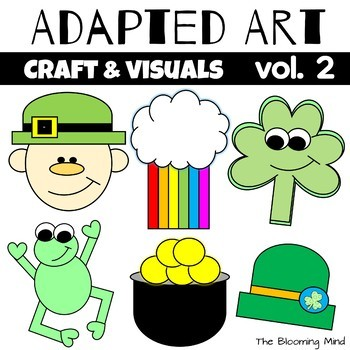 March Crafts {Adapted Art}