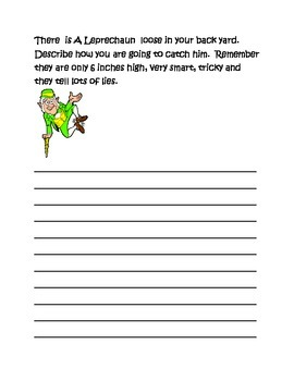 March Creative Writing Packet