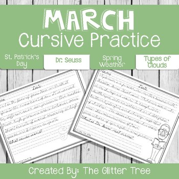 March Cursive Handwriting Practice