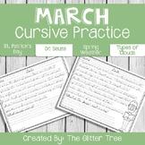March Cursive Handwriting Practice