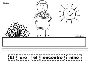 Oraciones revueltas Scrambled Sentences for MARCH in Spanish