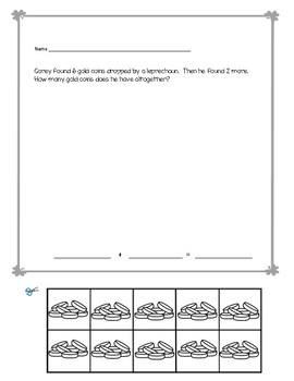 March Cut and Paste Word Problems No Prep