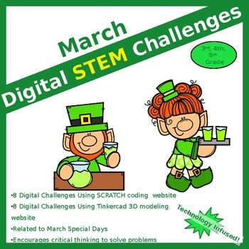 March DIGITAL STEM challenge|coding|St Patrick's Day
