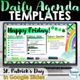 March Daily Agenda Slides Daily Schedule Google Slides ST.