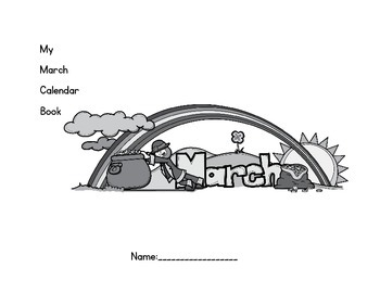March Daily Calendar Book