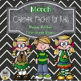 March Daily Calendar Review and Math Practice