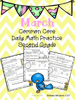 March Daily Common Core Math Practice for Second Grade