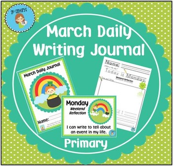 """March Daily Journal - Primary Writing Printables PLUS """"I C"""