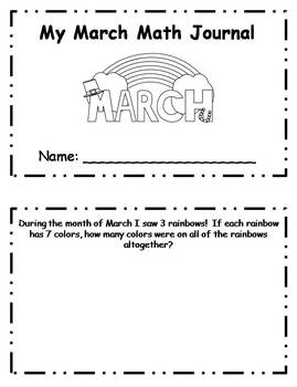 March Daily Math Journal