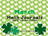 March Daily Math Journals {2nd Grade Common Core Aligned}