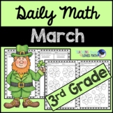 March Daily Math Review 3rd Grade Common Core