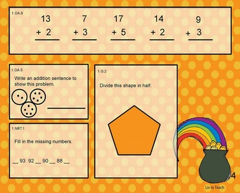 March Daily Math Warm-Up (1st Grade Common Core)