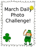 March Daily Photo Challenge for Kindergarten