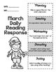 March Daily Reading Response