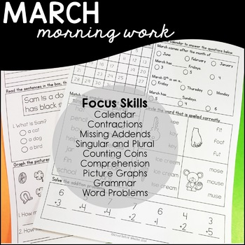March Daily Skills Practice/ Morning Work Special Education