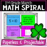 Daily Math Spiral for 2nd Grade - March