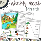 March Daily Weekly Thematic Vocabulary Word Work - Distanc