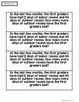 March Daily Word Problems {First Grade}