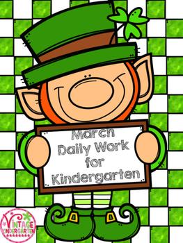 March Daily Work for Kindergarten