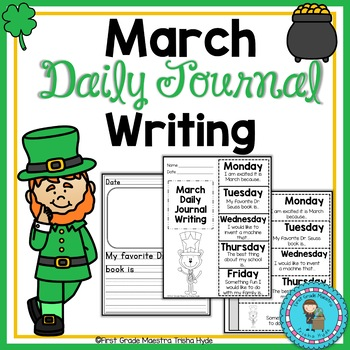 March Daily Quick Writes Writing Journal