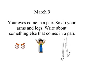 March Daily Writing Prompts