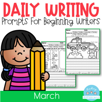 March Daily Writing Prompts for Beginning Writers