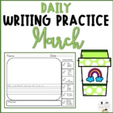 March Daily Writing Prompts for Kindergarten and First Gra