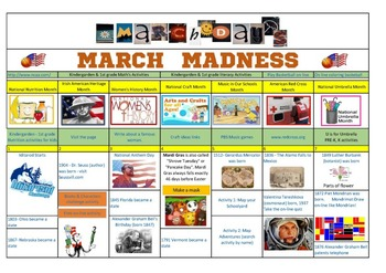 March Days Links and Activities