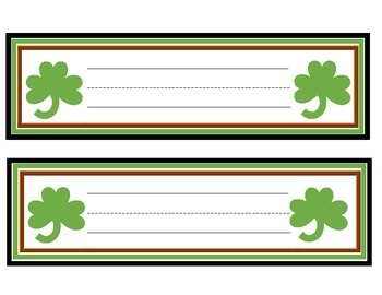 March Desk Tags
