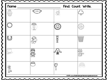 March Differentiated Count The Room Freebie!  Counting to 25
