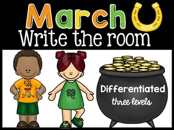 March: Differentiated Write the Room { Beginning Sounds, CVC, Mystery Sentences}
