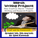 March Writing Projects for Upper Elementary Students