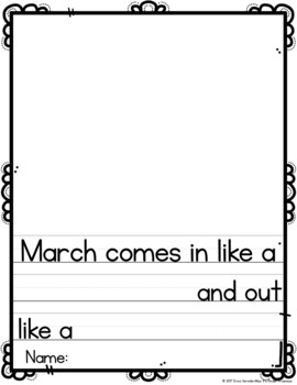 March Differentiated Writing Prompts