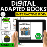 March Digital Adapted Books for Special Ed (Interactive PDFs)