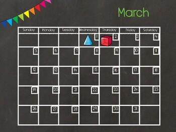 March Digital Calendar