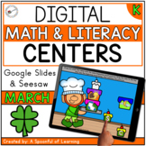 March Digital Centers for Kindergarten - Math & Literacy |