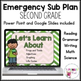 March Digital Emergency Sub Plan Second Grade for Distance
