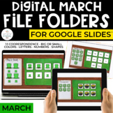 March Digital File Folders for Special Education