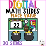March Digital Math Slides - Place Value Tens and Ones St.