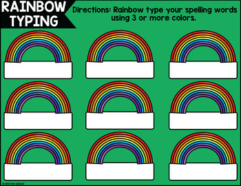 March Digital Spelling Activities for Word Work