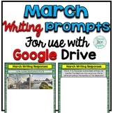 March Digital Writing Prompts for use with Google Slides