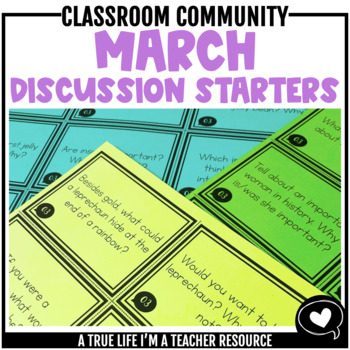 March Discussion Starters