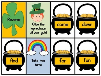 March Dolch Pre-Primer Sight Word Game