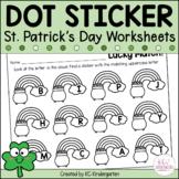 March Dot Sticker Math and ELA Activities
