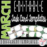March EDITABLE Task Card TEMPLATES