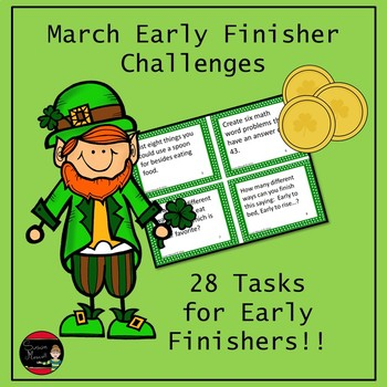 St. Patrick's Early Finisher Enrichment and Challenges