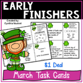 Early Finishers Task Card Activities for March {$1 Deal}
