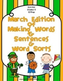 March Edition of Making Words and Sentences and Word Sorts