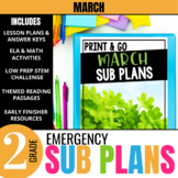 March Emergency Sub Plans for 2nd Grade: Activities & Read